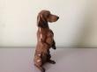 купить фарфор, статуэтка фарфоровая такса, Мартин Майер-Пириц (Martin Meyer-Pyritz ) Розенталь (Rosenthal), стоящая такса, стоящая такса розенталь.