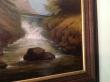 картина горный пейзаж, холст, масло, купить картин пейзаж, водопад, горная река, интерьерный пейзаж.