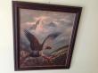 орел, горный орел, купить картину орел,  Р. Хиршель, R. Hirschel