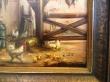 картина, доска, масло, купить картину , птичий двов, павлин,  картина птицы,  картина павлин,   С. Кох, S. Koch