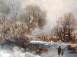 купить картину пейзаж , доска, масло,  картины маслом, купить картину зимний пейзаж, пейзаж, зимний пейзаж