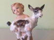купить фарфор, статуэтка фарфоровая ребенок с козленком, фарфор мальчик с козленком,  мальчик с козленком, Германия, Розенталь (Rosenthal), Макс Х. Д. Фриц (Max H.D. Fritz )