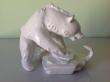 купить фарфоровый медведь, статуэтка фарфоровая медведь, фарфор KPM , КРМ Берлин, фарфоровый медведь,  медведь со змеей,  статуэтки фарфоровые, фарфоровый медведь, медведь фарфровый, мишка фарфороый, белый медведь
