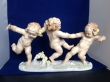 купить фарфоровую статуэтку, три играющих путти, три играющих ребенка фарфор, статуэтка фарфоровая, играющие  путти, играющие дети, дети фарфор, Хутченройтер, Hutschenreuther,  К.Туттер,  K.Tutter , Karl Tutter, Karl Tutter играющие путти, три путти, три