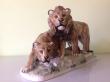купить фарфор, статуэтка фарфоровая львы, пара львов фарфор, группа львов фарфор, львы фарфоровые, Max Hermann Fritz  , Розенталь , Rosenthal., львы фарфоровые купить, фигурка льва