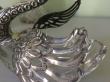 купить серебро, лебедь серебряный,   лебедь серебро,  лебедь хрусталь, серебро, хрустальный лебедь