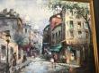 картина, городской пейзаж,   купить картину,  Париж, картина Париж, Монмартр