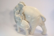 купить фарфор, слон фарфоровый, слон и слоненок, два слона из фарфора, фарфор Германия