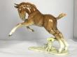 купить фарфоровую статуэтку  конь, статуэтка фарфоровая лошадь, лошадь фарфоровая, жеребёнок фарфор Хутченройтер, жеребёнок Hutschenreuther, Х. Ахцигер , H.Achtziger, скачущий жеребенок