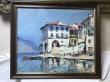 купить картину морской пейзаж , купить картину Лаго-Маджоре, картина море, картина Лаго Маджоре,  Лаго-Маджоре, море, морской посёлок