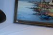 картина морской пейзаж, рыбачий поселок, масло, холст,в современном стиле, купить картину берег моря